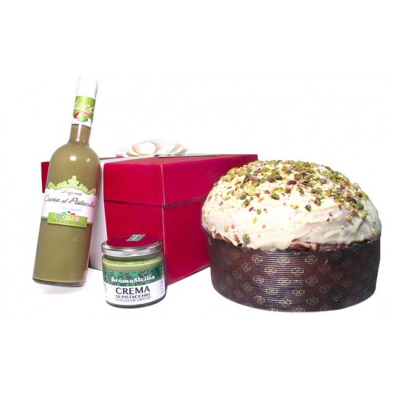Pistachios Liquor Cream and Panettone
