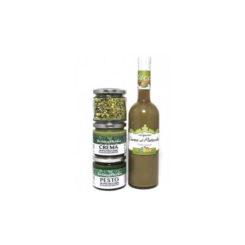 liquore pistacchio crema pesto e granella Pistacchio Bronte