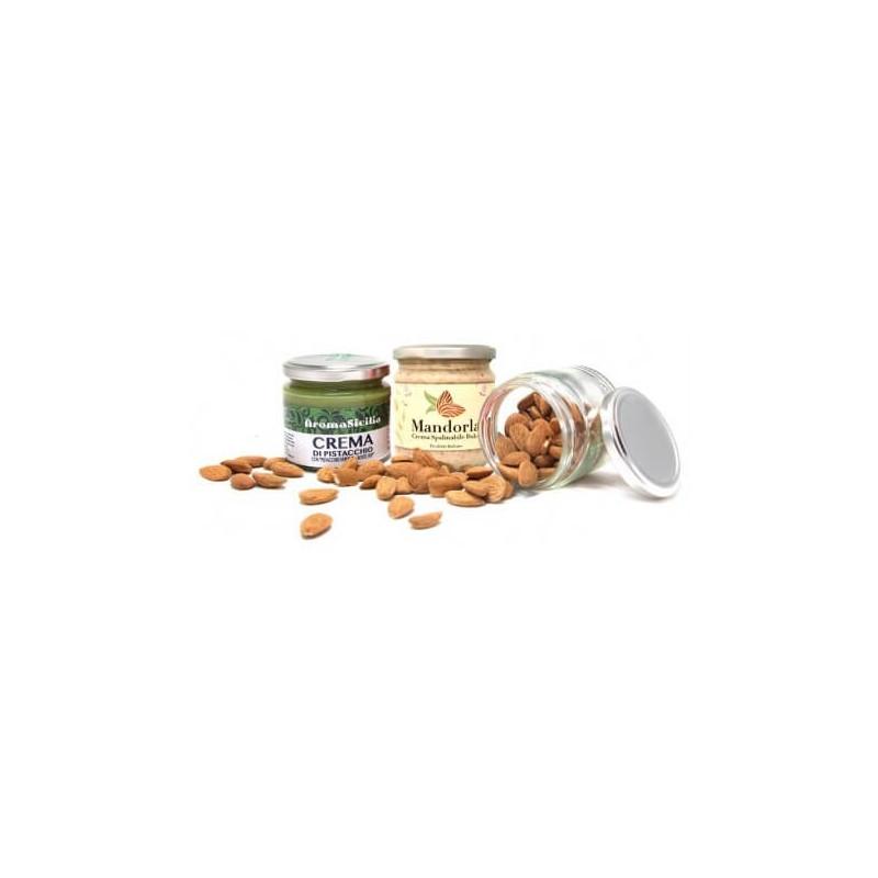 crema pistacchi,crema di Mandorle, Mandorle a Cuores Siciliane